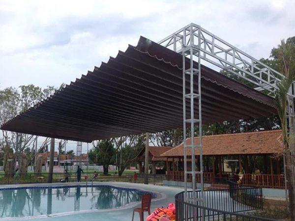 mái che bể bơi - hồ bơi, mái xếp di động bể bơi - hồ bơi