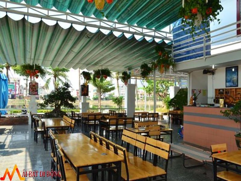 mái che xếp di động nhà hàng