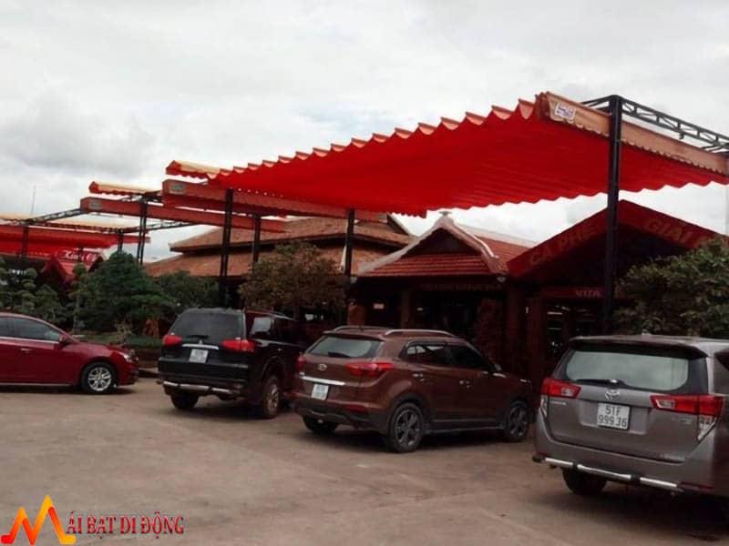 mái che xếp kéo cho nhà xe