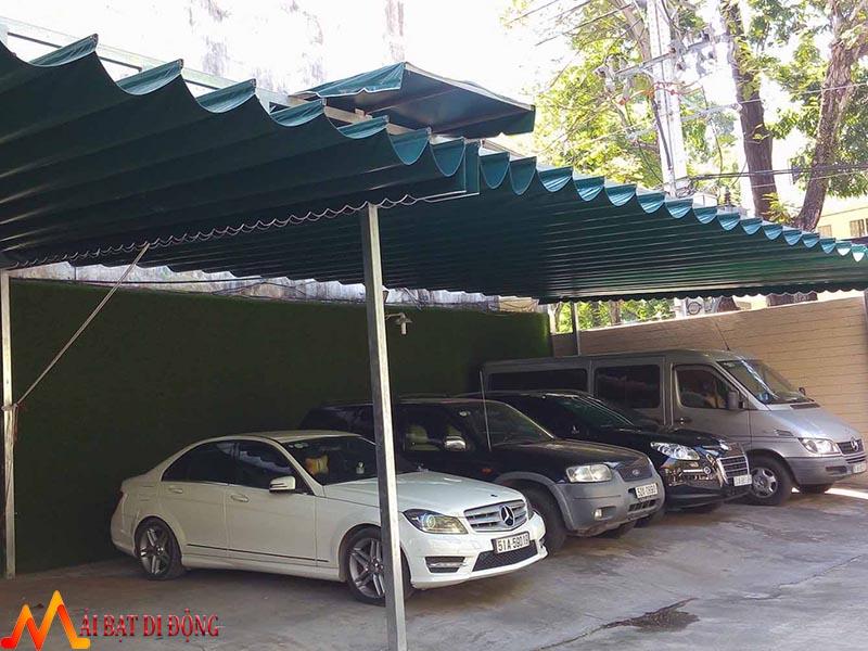 mái che xếp để xe ô tô