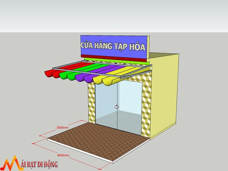 Thiết kế mái che cửa hàng tạp hóa