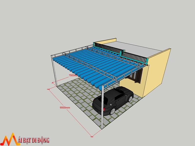 Thiết kế mái che sân nhà
